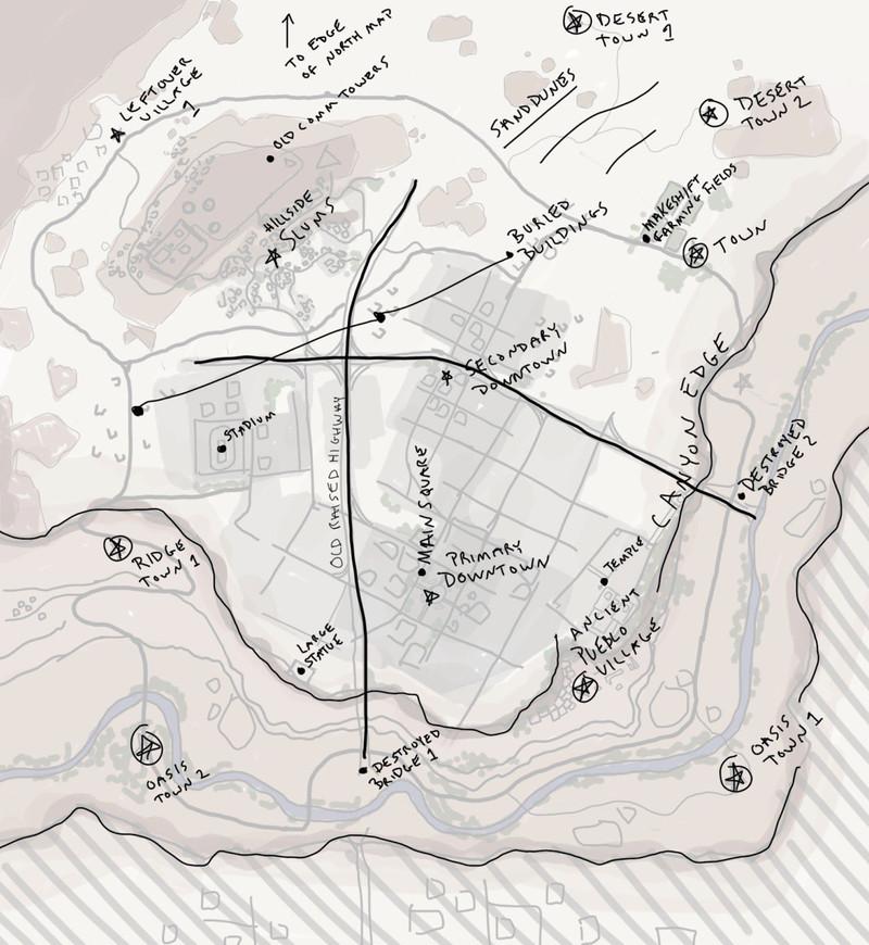 desert sketch.png - Gamescom 2017: First Look At PUBG's New Desert Map