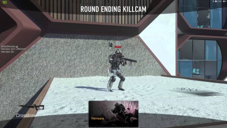 crazy across the map crossbow sh 790x444 - Crazy Across the Map Crossbow Shot in AW Gun Game